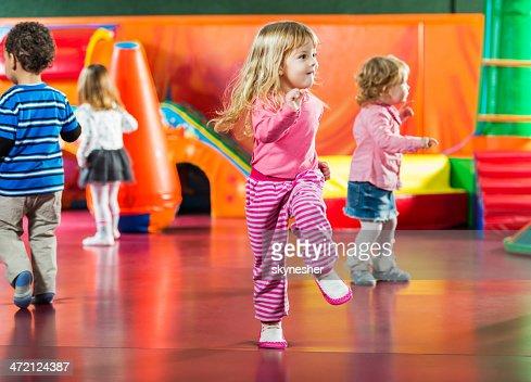 Children dancing.