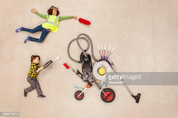 Children developing new household gadgets