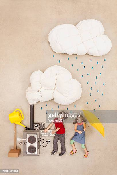 Children developing new weather machine