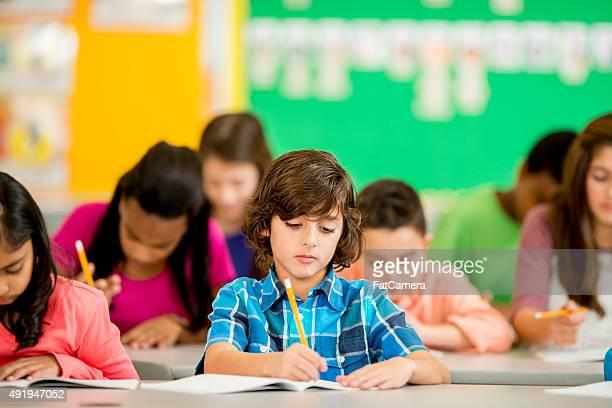 Children Doing a Homework Assignmnet