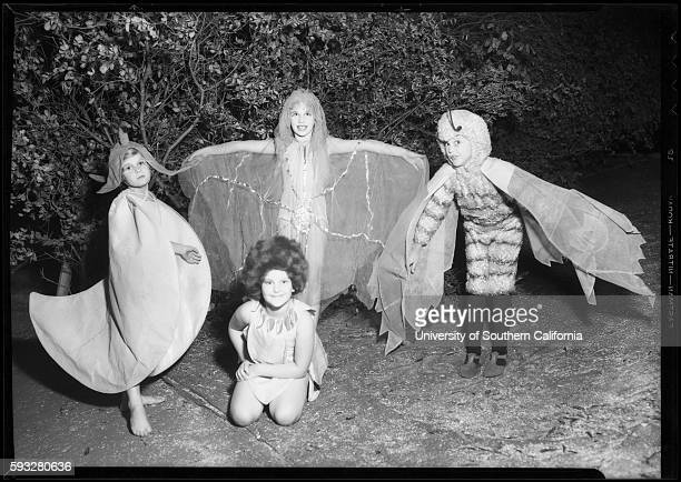 Children dressed in fairy costumes from Max Reinhardt's production of A Midsummer Night's Dream at the California Festival Hollywood Bowl 1934dw123~01