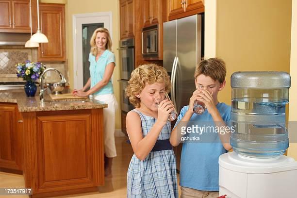 Children Drinking Purified Water