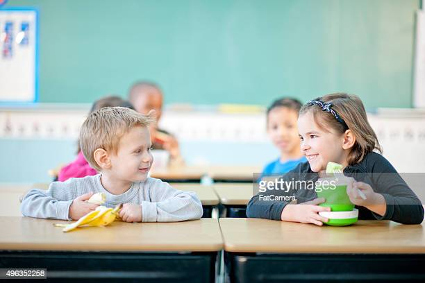 Children Eating Snacks at School