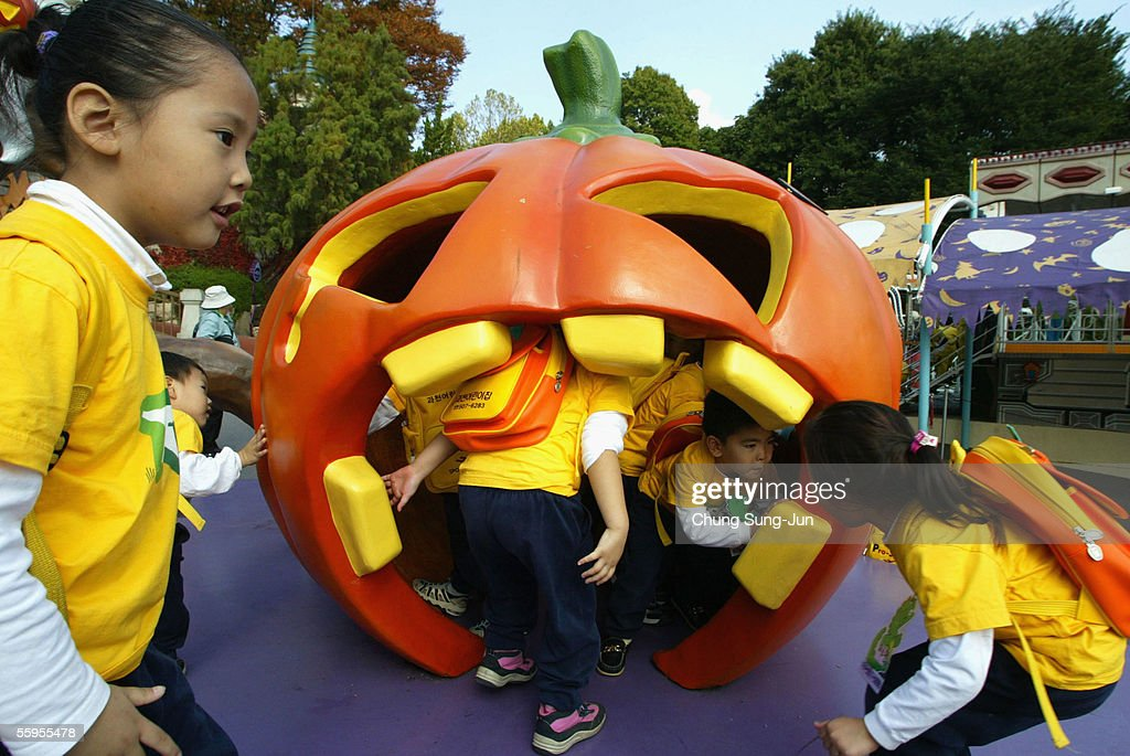 children enjoy a happy halloween festival at the everland amusement park on october 19 2005 - What Is Halloween A Celebration Of
