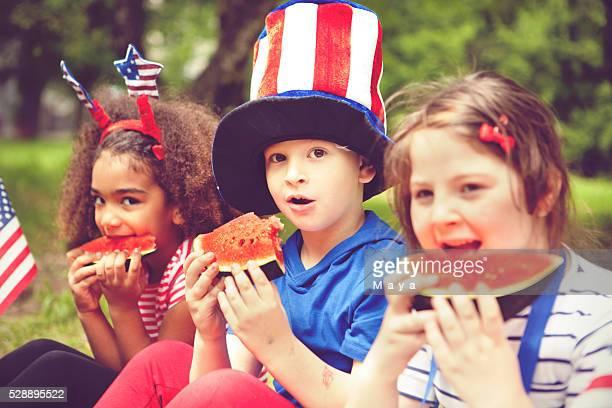 Los niños disfrutan de julio de 2008