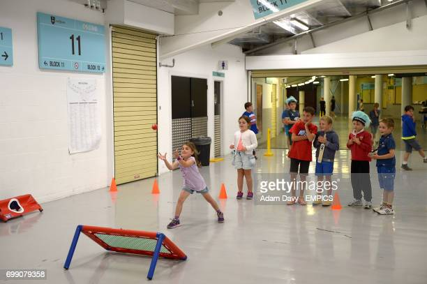 Children enjoy the Family Day activities at the Kia Oval