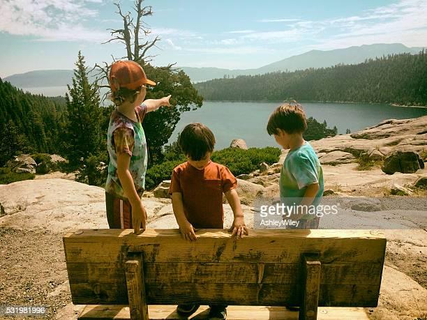 Children exploring, hiking, and enjoying Lake Tahoe together