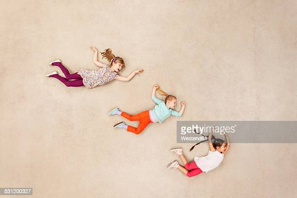 Children flying in the air