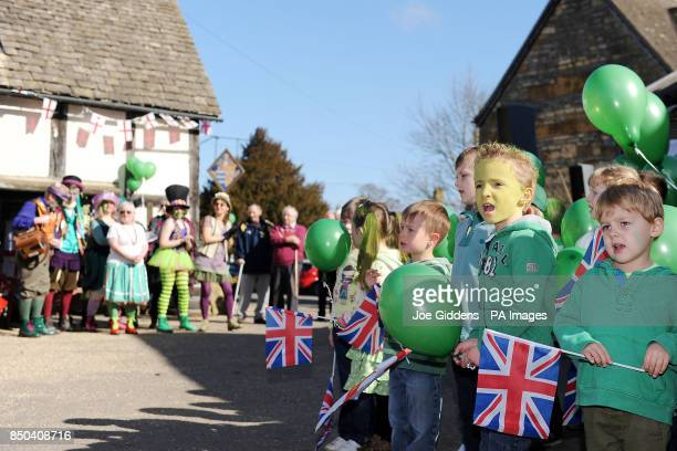 Children from Bretforton First School celebrate the launch of British asparagus season A host of asparagus fans gather today St George's Day to...