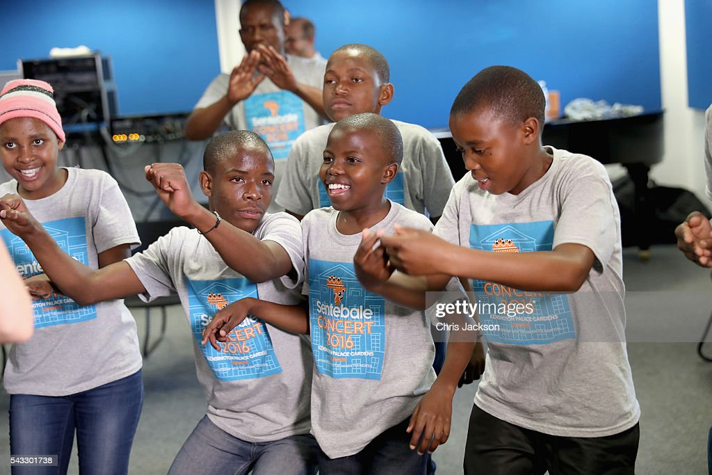 Children from the Basotho Youth Choir, made up of six boys and six girls, aged between 7 and 19 years old, rehearse with Joss Stone at the Brit School on June 27, 2016 in London, England. The Basotho Youth Choir will perform alongside Sentebale Ambassador Joss Stone at tommorow's Sentebale Concert at Kensington Palace, headlined by Coldplay. The choir members have all been supported by Sentebale's Secondary School Bursaries Progamme or Care for Vulnerable Children Programme. The Bursaries Programme covers the cost of school fees, uniforms and books for some of Lesotho's most disadvantaged children.