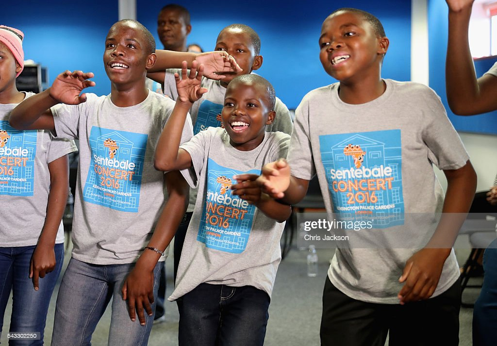 Children from the Basotho Youth Choir, made up of six boys and six girls, aged between 7 and 19 years old, rehearse with Joss Stone at the Brit School on June 27, 2016 in London, England. The Basotho Youth Choir will perform alongside Sentebale Ambassador Joss Stone at tomorrow's Sentebale Concert at Kensington Palace, headlined by Coldplay. The choir members have all been supported by Sentebale's Secondary School Bursaries Progamme or Care for Vulnerable Children Programme. The Bursaries Programme covers the cost of school fees, uniforms and books for some of Lesotho's most disadvantaged children.