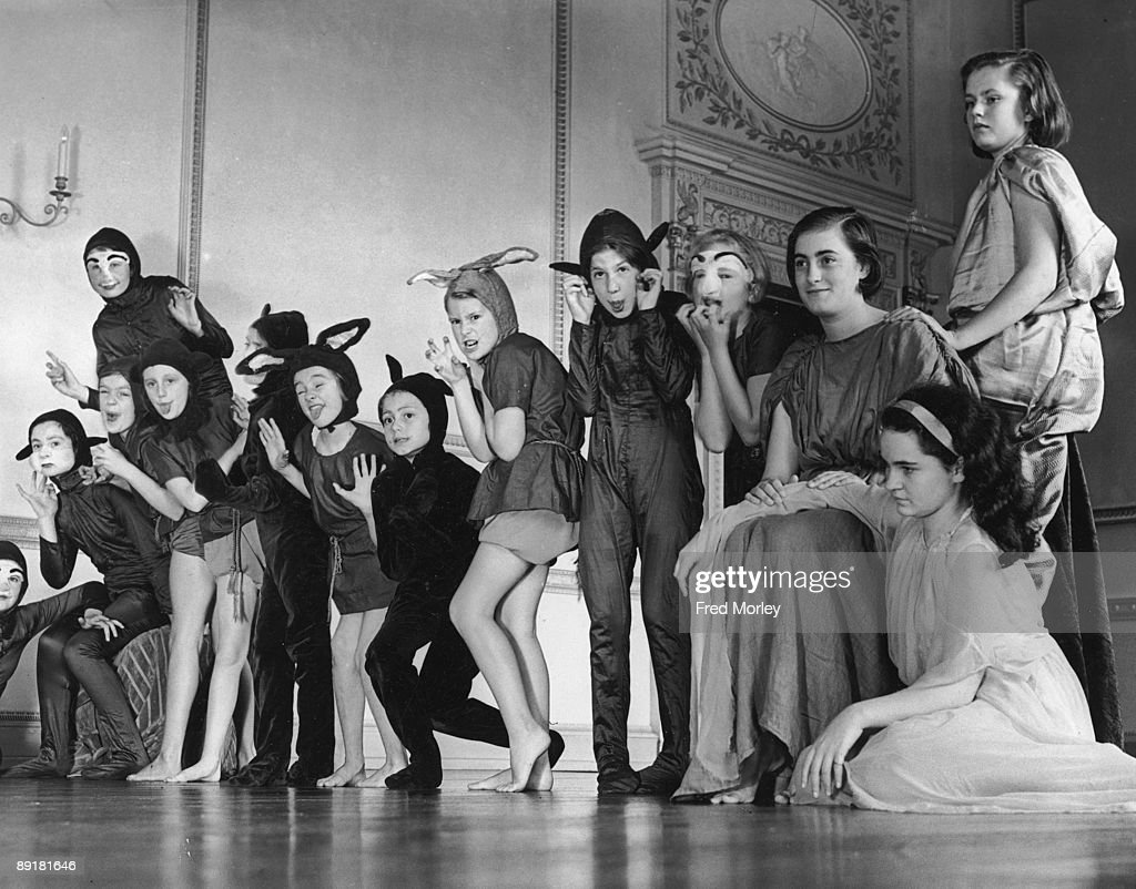Children from the Theatre of Youth perform a choral ballet produced by Edith E Clements for the sixth annual exhibition of the Alpha Club known as...