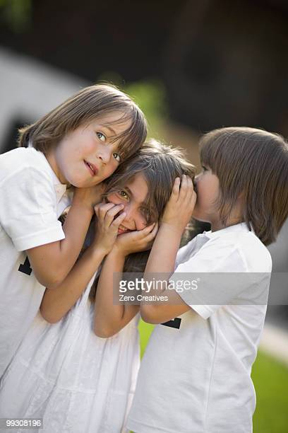 Children having a secret