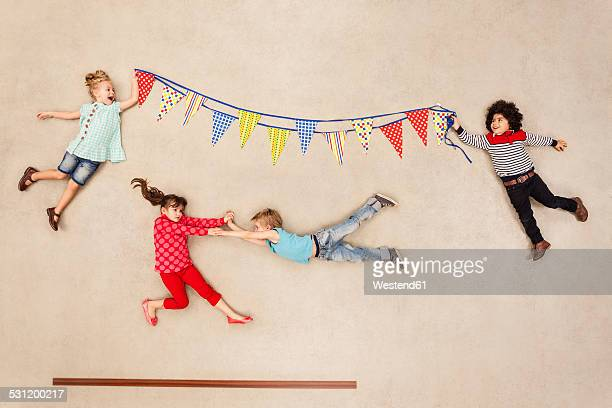 Children having birthday party