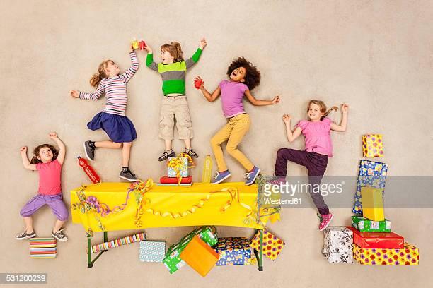 Children having birthday party