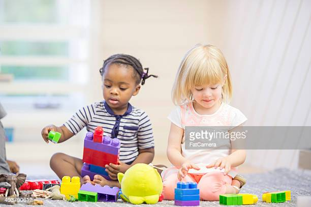 Children Having Free Play in Preschool