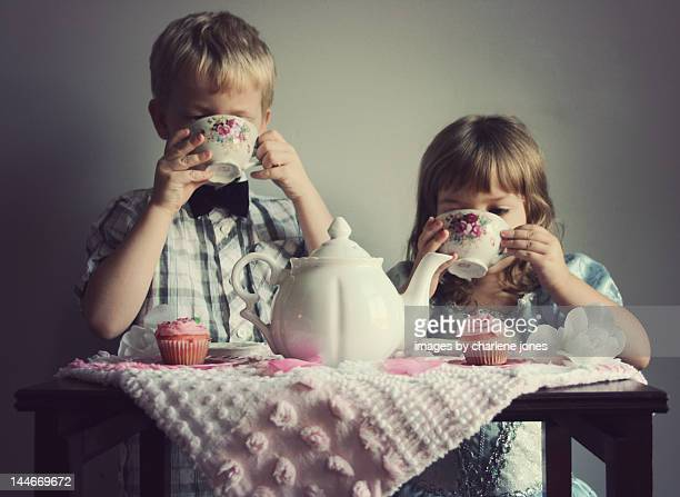 Children having tea