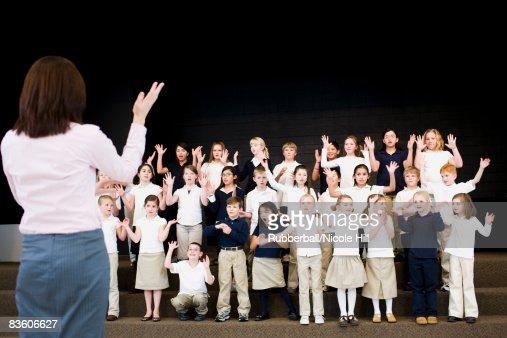 children in a choir