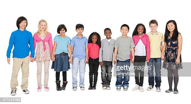Children in a Row - Holding Hands