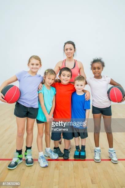 Children in a School Gym