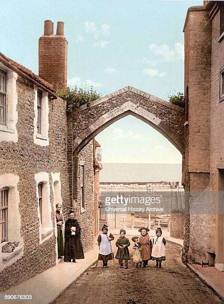 Children in a street in York Gate Broadstairs England 1900