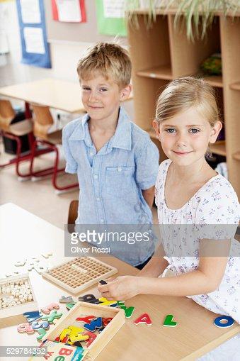 Children in classroom : Stock Photo