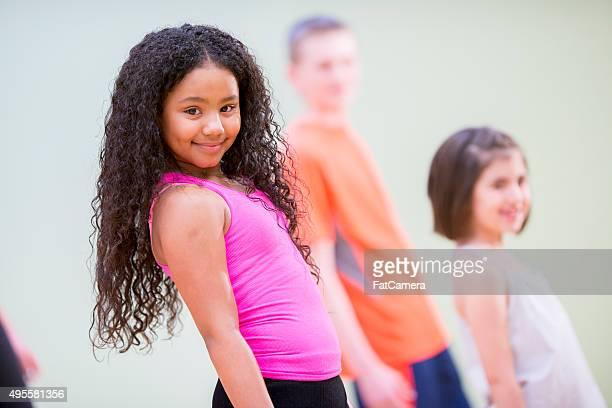 Enfants dans la classe de danse
