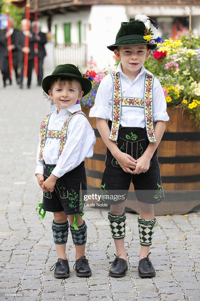 Children in lederhosen, Garmisch-Partenkirchen