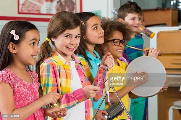 Children in Music Class