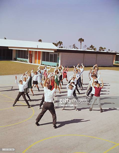 Children in physical education class