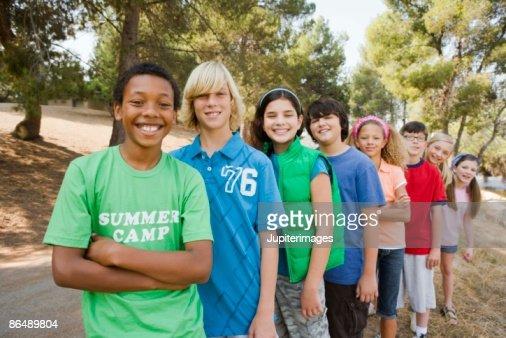 Children in summer camp : Foto de stock