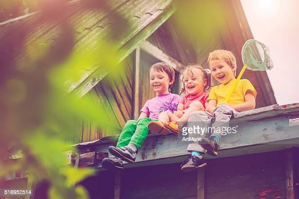 Enfants en été