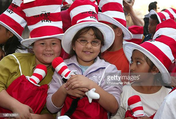 Children in the crowd during Theodor 'Dr Seuss' Geisel Honored Posthumously with Star on Hollywood Walk of Fame at Hollywood Blvd in Hollywood...