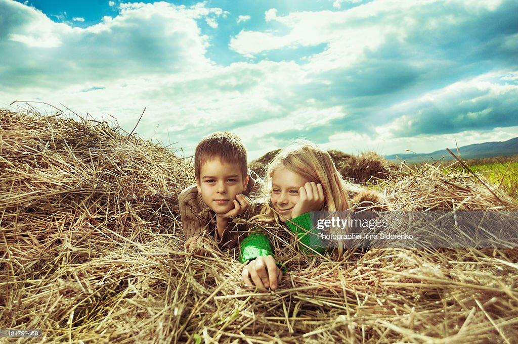 Children in the field