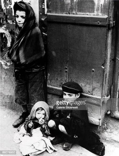 Children in the street in the Warsaw Ghetto Poland 1941