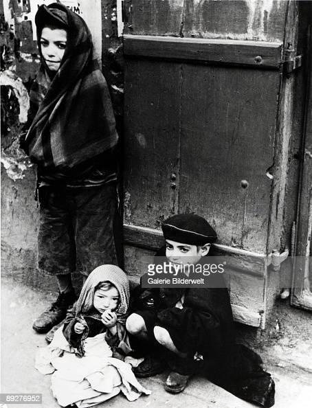 Children in the street in the Warsaw Ghetto Poland 1941