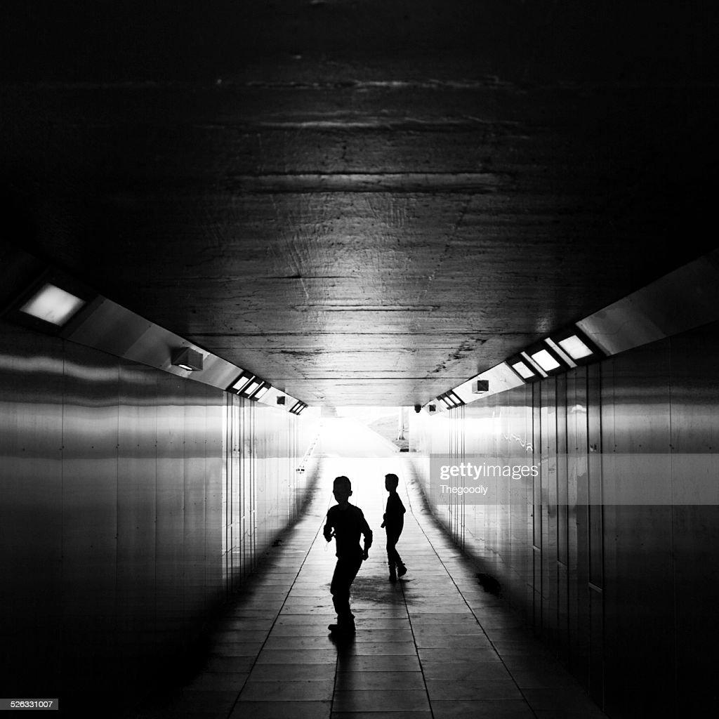 Children in underpass