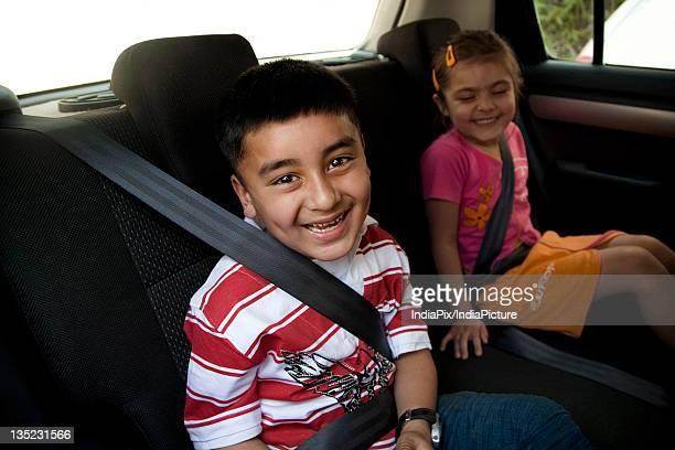 Children inside a car
