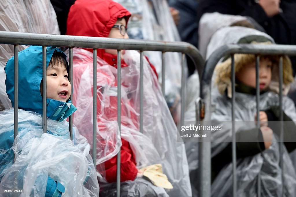 Children join the Chinese community of Glasgow attending The Year of The Monkey New Year celebrations on February 7, 2016 in Glasgow, Scotland. The first ever Chinese New Year celebrations to be held in George Square, The Year of the Monkey begins on February 8th and lasts until January 27, 2017.
