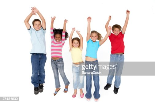 Children jumping : Foto de stock