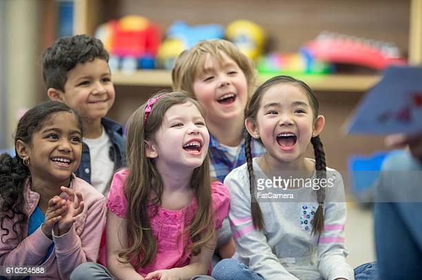 Children Laughing at a Story