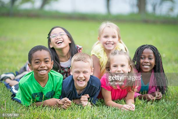 Children Laughing Together