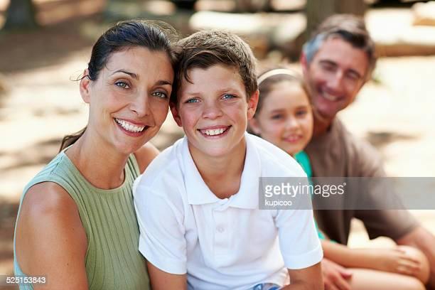 Kinder lernen Sie zu lächeln von Ihren Eltern