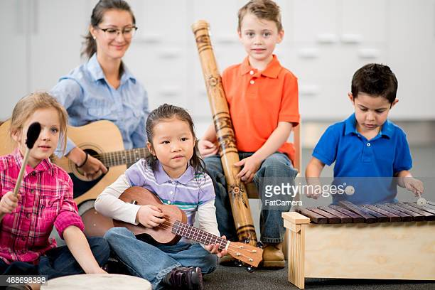 Children Learning Instruments