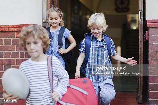 Children leaving school together