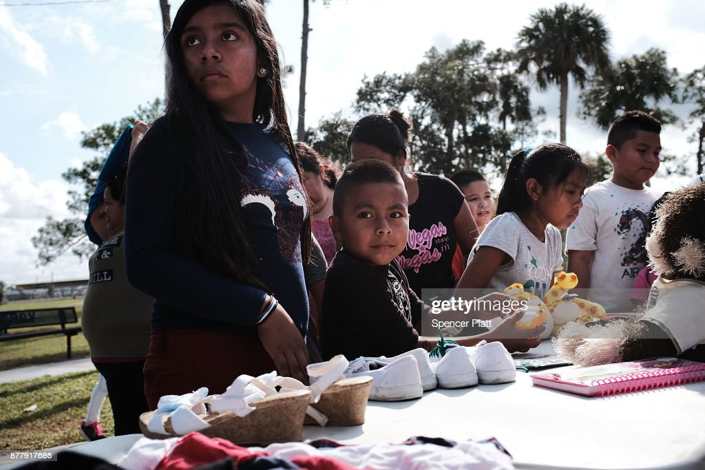 Thanksgiving Meal Served In Immokalee, Florida, As Area Continues Recovery Efforts From Hurricane Irma