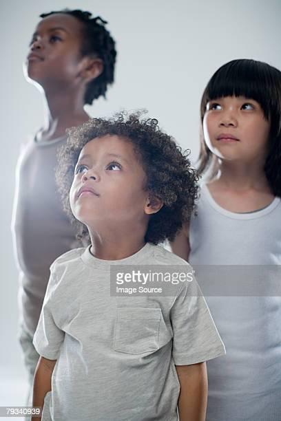 Children looking up