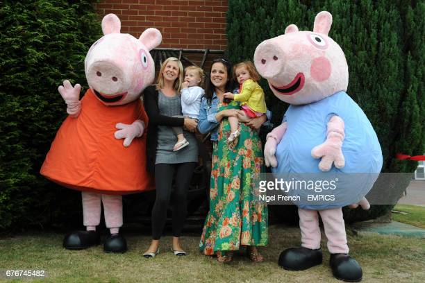 Children meet 'Peppa Pig and George' at Lingfield Park