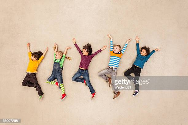Children messing around happily