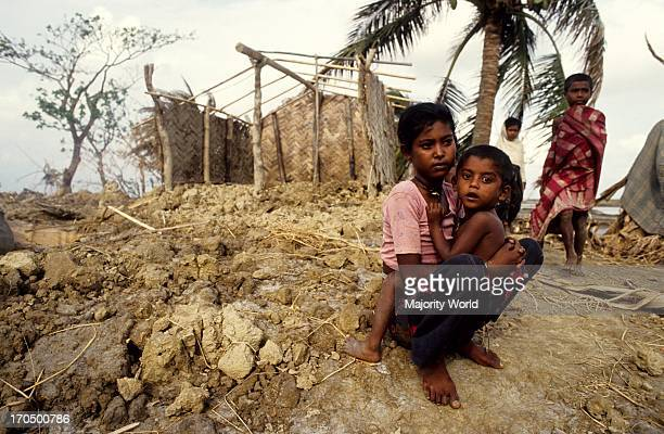 Children of a devastated village Anwara Chittagong Bangladesh 1991 The 1991 cyclone was one of the deadliest tropical cyclones on record that struck...